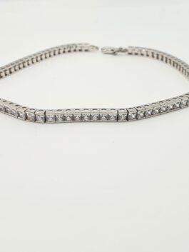 צמיד טניס קלאסי משובץ יהלומים או זרקונים לבחירתכם tb101