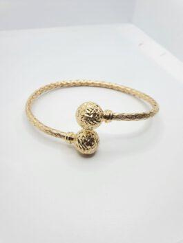צמיד זהב 14 קראט קשיח שזור חריטות לייזר bolety