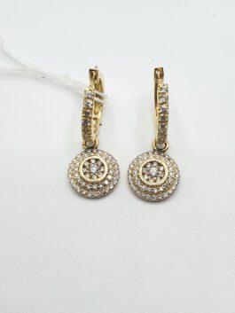 עגיל יהלום יוקרתי חצי קראט יהלומים איכותיים זהב צהוב   pashion