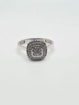 טבעת זהב 14 קראט אירוסין משובצת דגם gr182