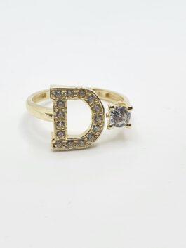 טבעת זהב 14 קראט אות אותיות אנגלית gr180