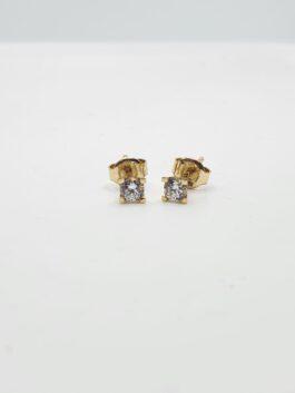 עגיל יהלום קלאסי משובץ 0.26 קראט יהלומים דגם deg133