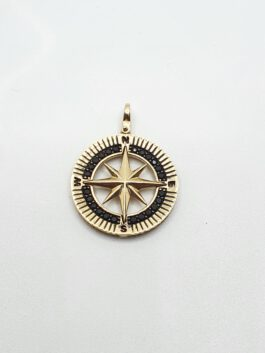 תליון זהב 14 קראט כוכב משובץ זרקונים שחורים tz121