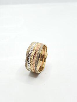 טבעת נישואין 14 קראט קולקציה חדשה 3 צבעים gre120