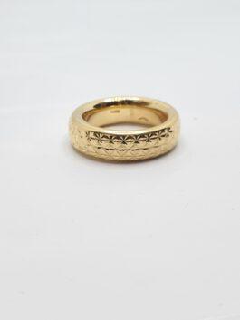טבעת נישואין זהב צהוב 14 קראט חריטות לייזר gre123
