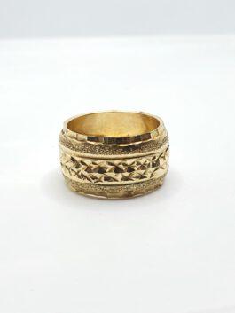 טבעת נישואין זהב 14 קראט חריטות קולקציה חדשה  gre171
