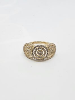 טבעת זהב  14קראט משובצת זרקונים ברמת גימור גבוהה gr201