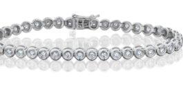 צמיד טניס יהלומים 0.8 קראט דגם כוסות td109