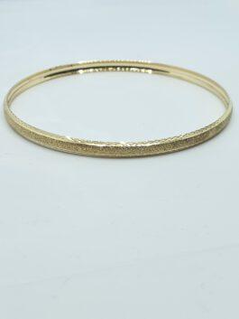 צמיד זהב 14 קראט צהוב קשיח התזת חול נדיר gbk306