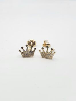 עגילי זהב 14 קראט כתר גם לנערות קולקציה חדשה ge420